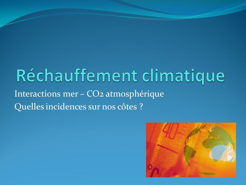 Interactions mer – CO2 atmosphérique Quelles incidences sur nos côtes ?