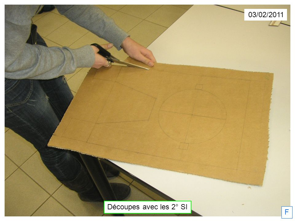 F 03/02/2011 Découpes avec les 2° SI