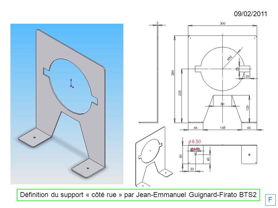 09/02/2011 F Définition du support « côté rue » par Jean-Emmanuel Guignard-Firato BTS2 8,50