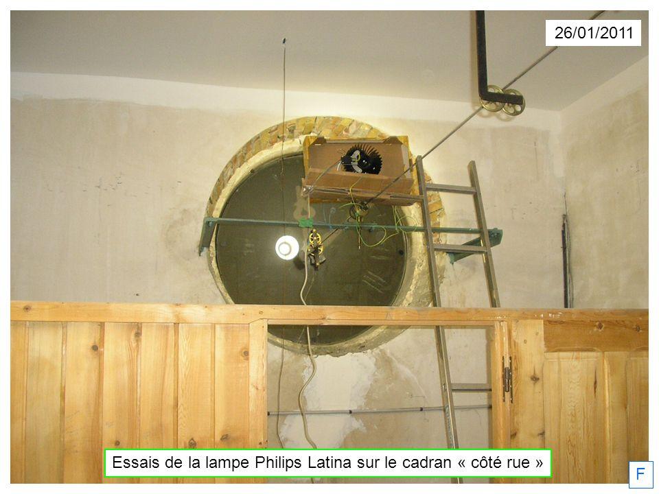 26/01/2011 F Essais de la lampe Philips Latina sur le cadran « côté rue »