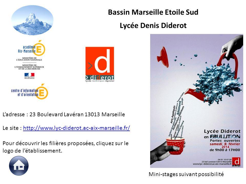 Le site : http://www.lyc-diderot.ac-aix-marseille.fr/http://www.lyc-diderot.ac-aix-marseille.fr/ Pour découvrir les filières proposées, cliquez sur le