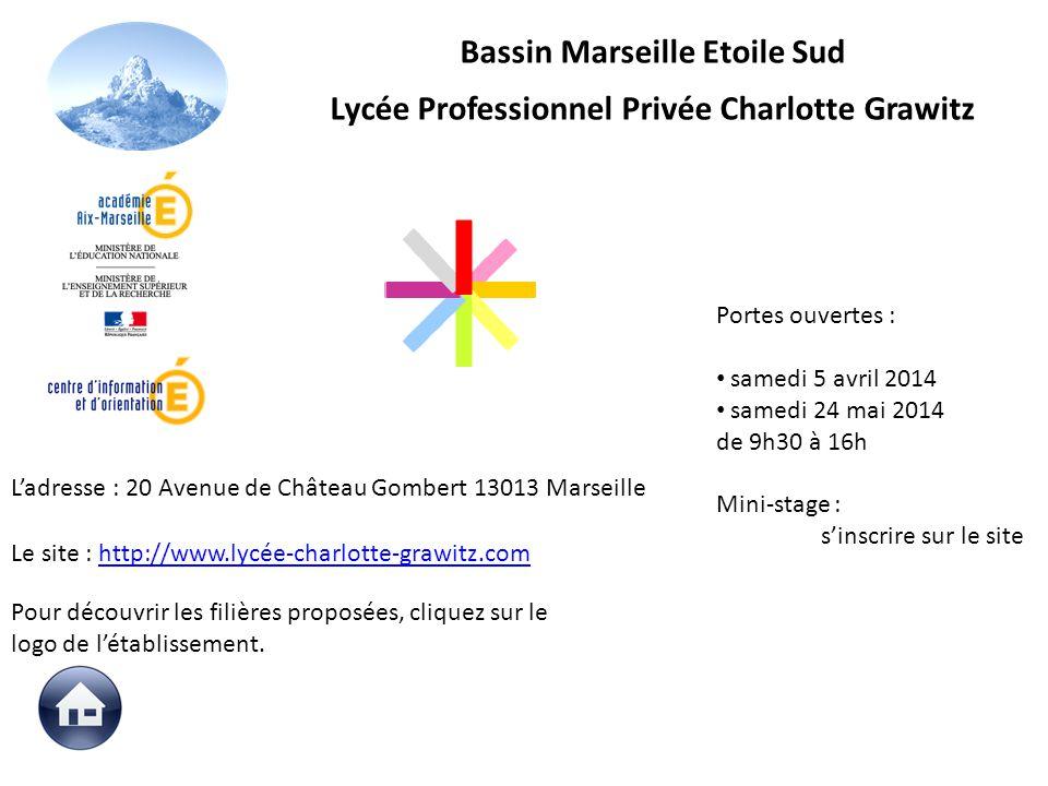 Le site : http://www.lycée-charlotte-grawitz.comhttp://www.lycée-charlotte-grawitz.com Portes ouvertes : samedi 5 avril 2014 samedi 24 mai 2014 de 9h3