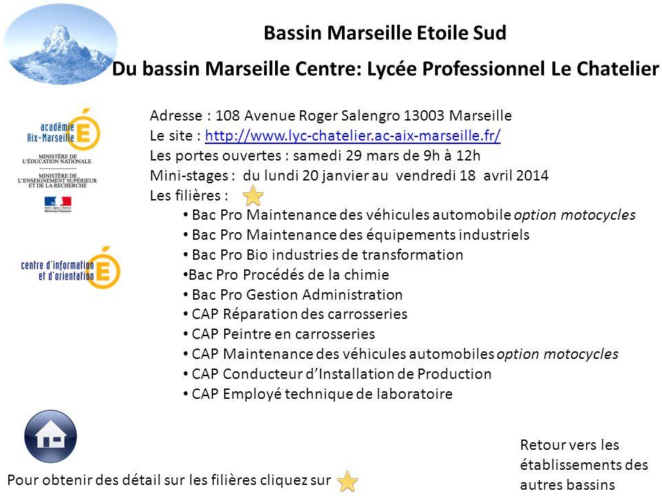 Adresse : 108 Avenue Roger Salengro 13003 Marseille Le site : http://www.lyc-chatelier.ac-aix-marseille.fr/http://www.lyc-chatelier.ac-aix-marseille.f