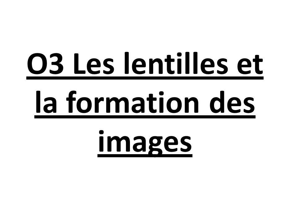 O3 Les lentilles et la formation des images