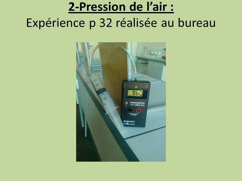 Reproduire les 2 tableaux p32… 1) En quelle unité le capteur mesure-t-il la pression .
