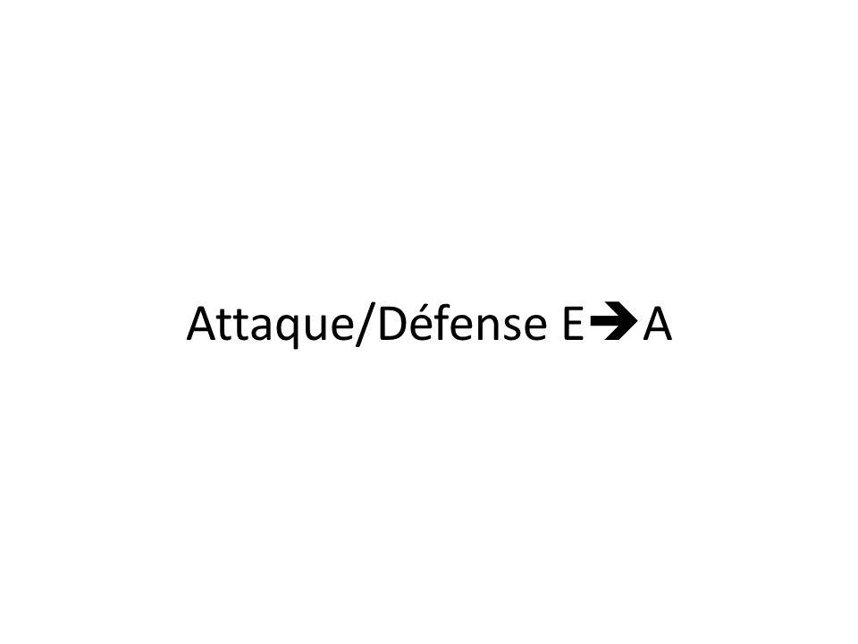 Attaque/Défense E A