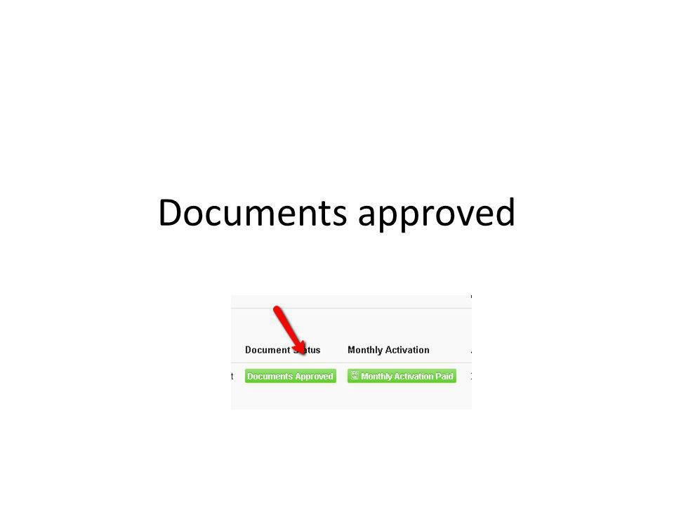Documents approved