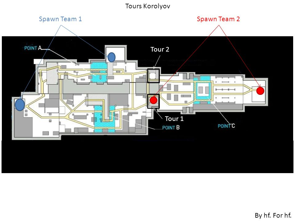 Spawn Team 1Spawn Team 2 Tour 2 Tour 1 Tours Korolyov By hf. For hf.