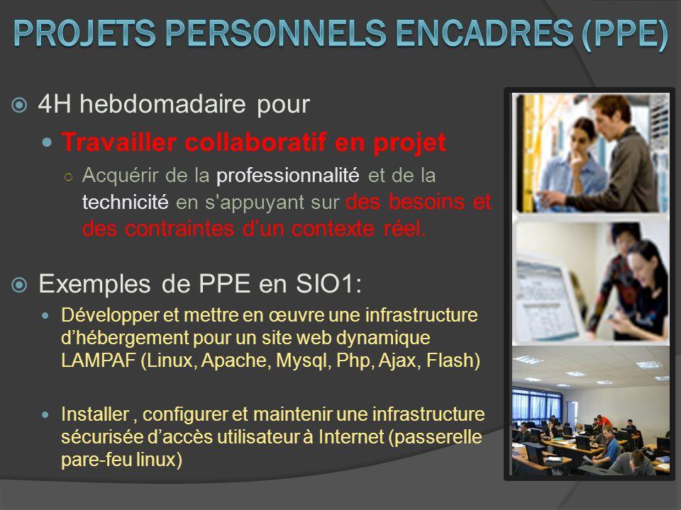 4H hebdomadaire pour Travailler collaboratif en projet Acquérir de la professionnalité et de la technicité en s'appuyant sur des besoins et des contra
