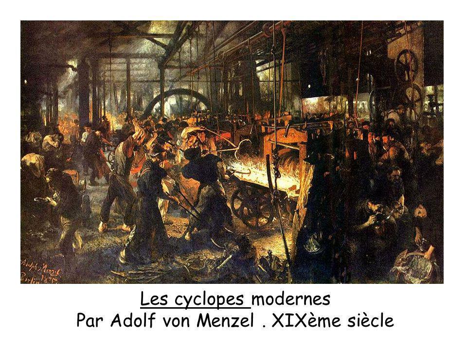 Les cyclopes modernes Par Adolf von Menzel. XIXème siècle