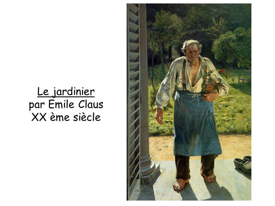 Le jardinier par Emile Claus XX ème siècle