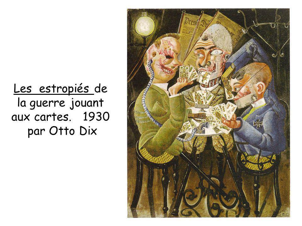 Les estropiés de la guerre jouant aux cartes. 1930 par Otto Dix