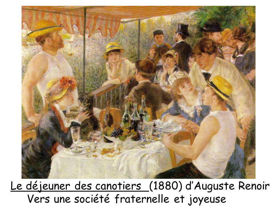Le déjeuner des canotiers (1880) dAuguste Renoir Vers une société fraternelle et joyeuse