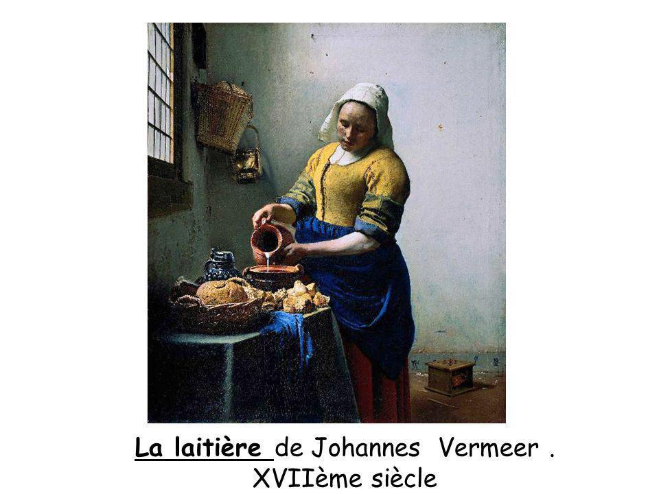 La laitière de Johannes Vermeer. XVIIème siècle