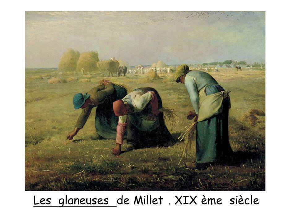 Les glaneuses de Millet. XIX ème siècle
