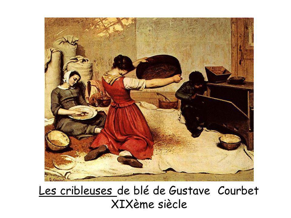 Les cribleuses de blé de Gustave Courbet XIXème siècle
