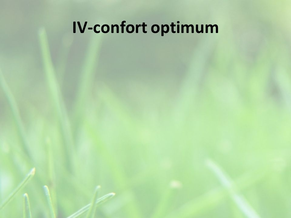 IV-confort optimum