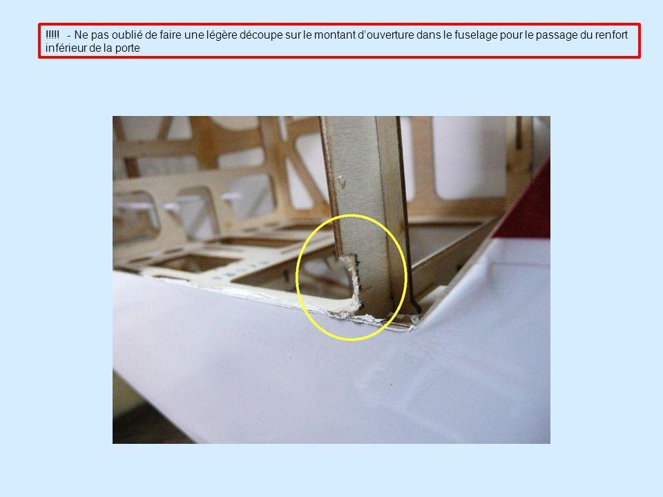DERIVE Après avoir tracé lemplacement de laxe de la roulette de queue, il faut percer un trou de 2 mm pour introduire la partie supérieure dans le volet de dérive