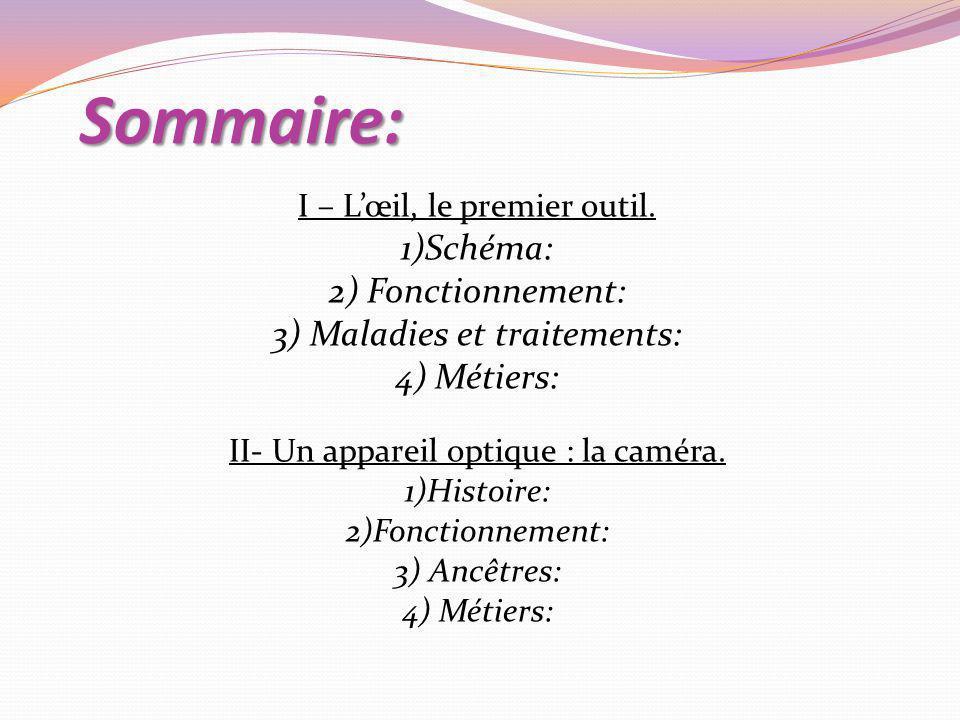 Sommaire: I – Lœil, le premier outil.