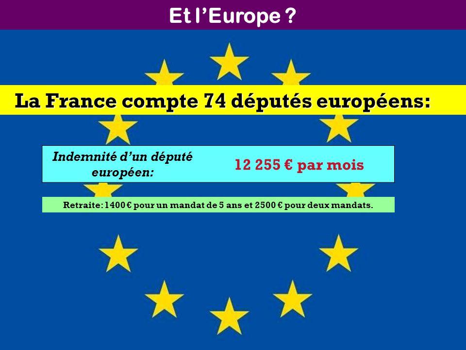 Et lEurope ? La France compte 74 députés européens: