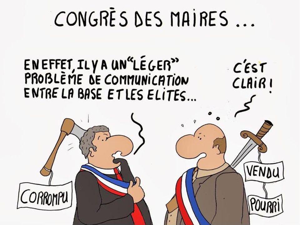 En France, il y a 36 646 maires: 526 000 Conseillers municipaux 100 000 Adjoints aux Maires Rémunération dun maire (*): 646 à 5512 Rémunération dun ad