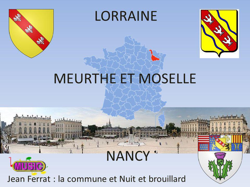MEURTHE ET MOSELLE LORRAINE NANCY Jean Ferrat : la commune et Nuit et brouillard