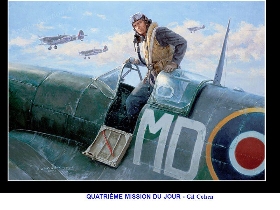 Août 1944 – Un spitfire Mk XIV piloté par le Lieutenant Burgwal du 322 Escadron (néerlandais), met hors détat de nuire une des 19 bombes volantes V-1 inscrites à son palmarès.