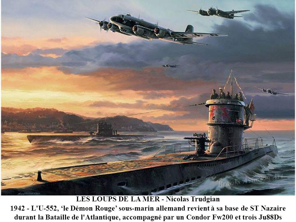 LEO BOMBARDIER DE LESCADRON DU ZODIAQUE - Roy Grinnell 1944 – Cette peinture montre le nez d'un B-24 LIBERATOR du célèbre escadron 834 du Zodiaque. ba