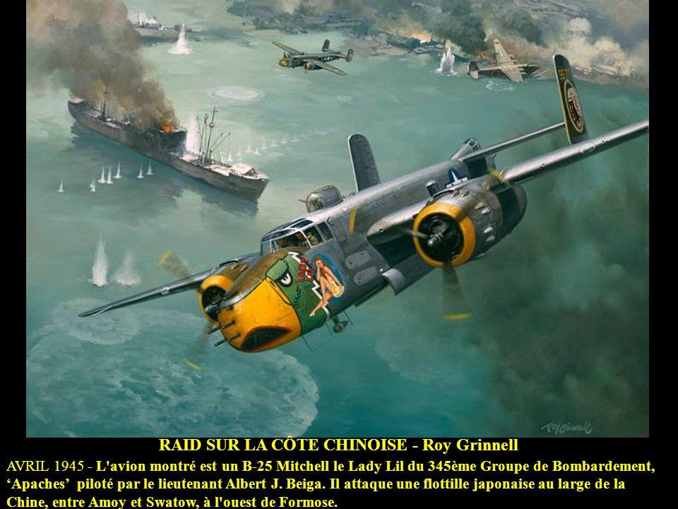 TOUJOURS FIDELE AU CIEL John D. Shaw 21 MAI 43 - Cette scène montre un Vought F4U Corsair du VMF-112 Têtes brulées' dans un combat près de Guadalcanal