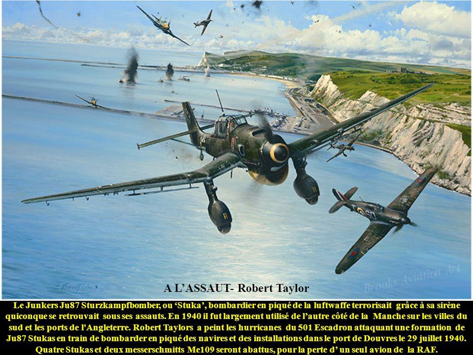 UN VRAI AVIATEUR - Wade Meyers Le Capitaine Don S. Gentile du 336ème Escadron de Combat basé à Debden manoeuvre son Mustang P-51B 'Shangri-la' en enga