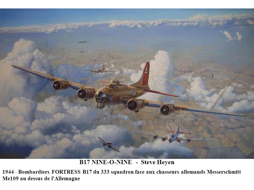 B17 NINE-O-NINE - Steve Heyen 1944 - Bombardiers FORTRESS B17 du 333 squadron face aux chasseurs allemands Messerschmitt Me109 au dessus de l Allemagne
