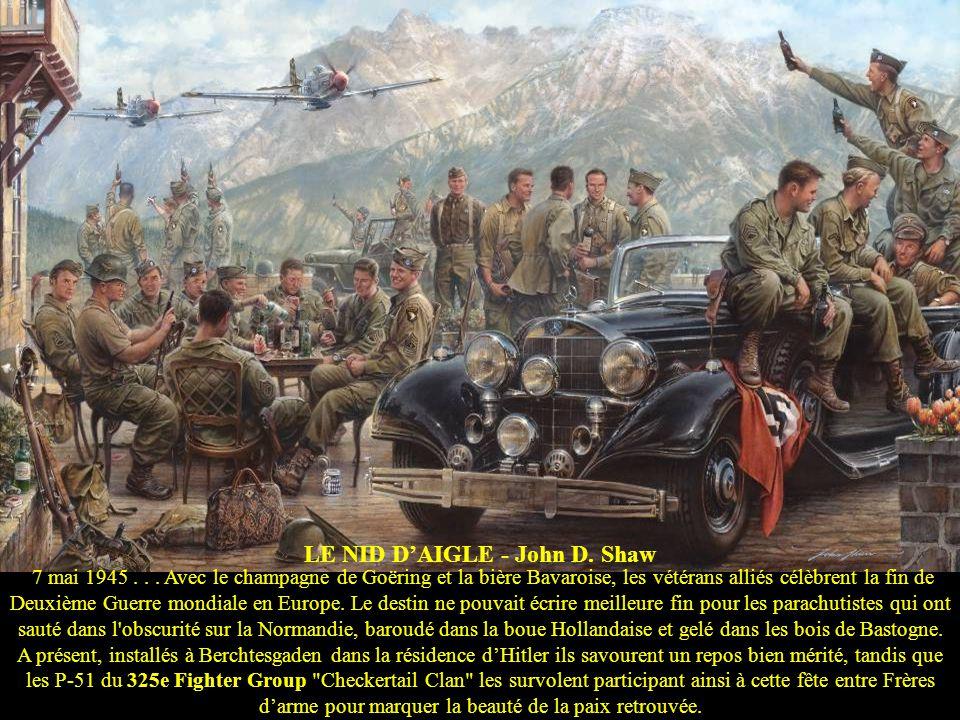 CHANCEUX - Carlos García 1944 – Le pilote anglo-Argentin Dick Lucky Lindsell aux commandes de son Hurricane MkIIC mène une attaque sur un pont en Birm