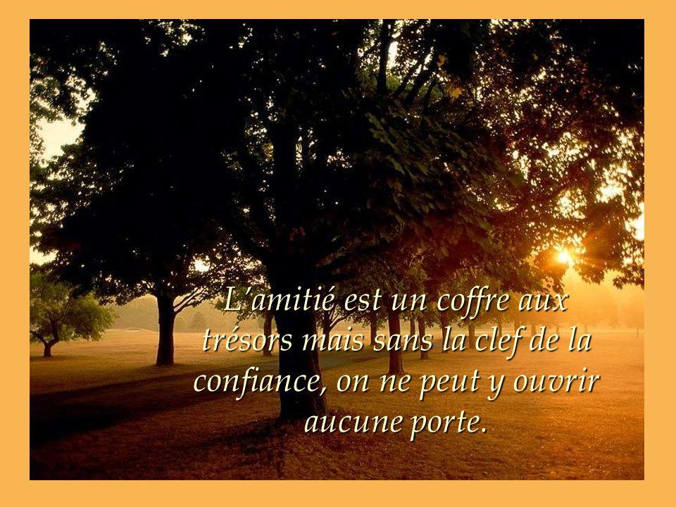 Lamitié est un coffre aux trésors mais sans la clef de la confiance, on ne peut y ouvrir aucune porte.