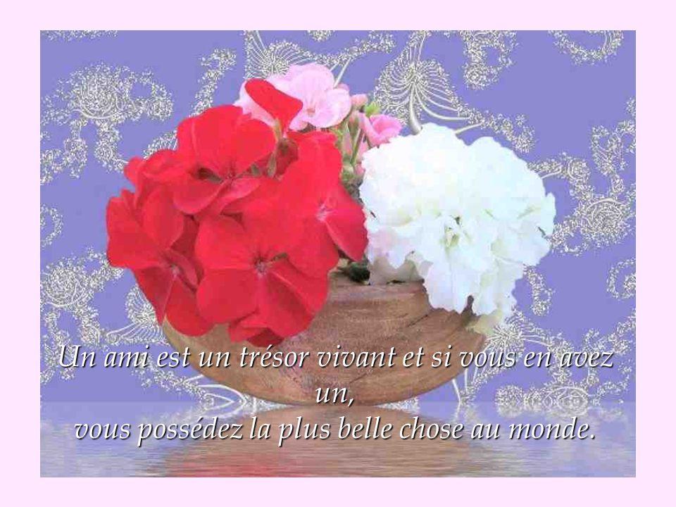 Un ami c est un sentiment d éternité dans le coeur, un ami c est une porte toujours ouverte.
