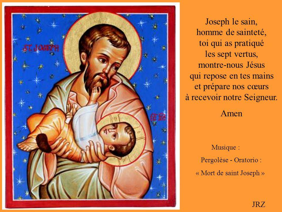 Homme despérance Homme despérance Serviteur bon et fidèle, béni entre tous les hommes, prie pour nous avec Marie, maintenant et à lheure de notre mort