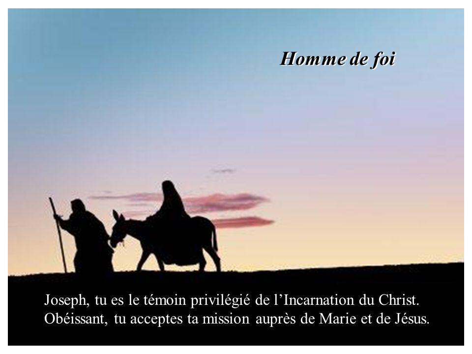« Sois sans crainte, Joseph. Voici que Marie a conçu car lEsprit Saint est venu sur elle et Celui qui va naître sera saint. » Lange envoyé par Dieu te