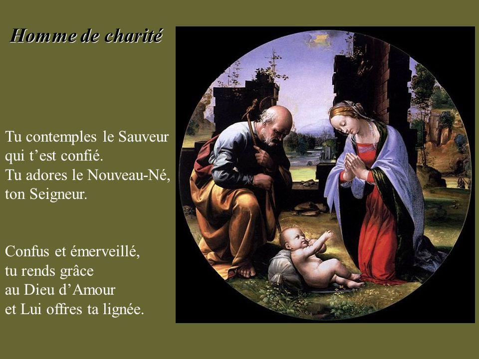 Toi qui as cherché partout une place pour Marie et pour son Enfant, aide-nous à les accueillir en nos cœurs, et à les y garder précieusement. Toi qui