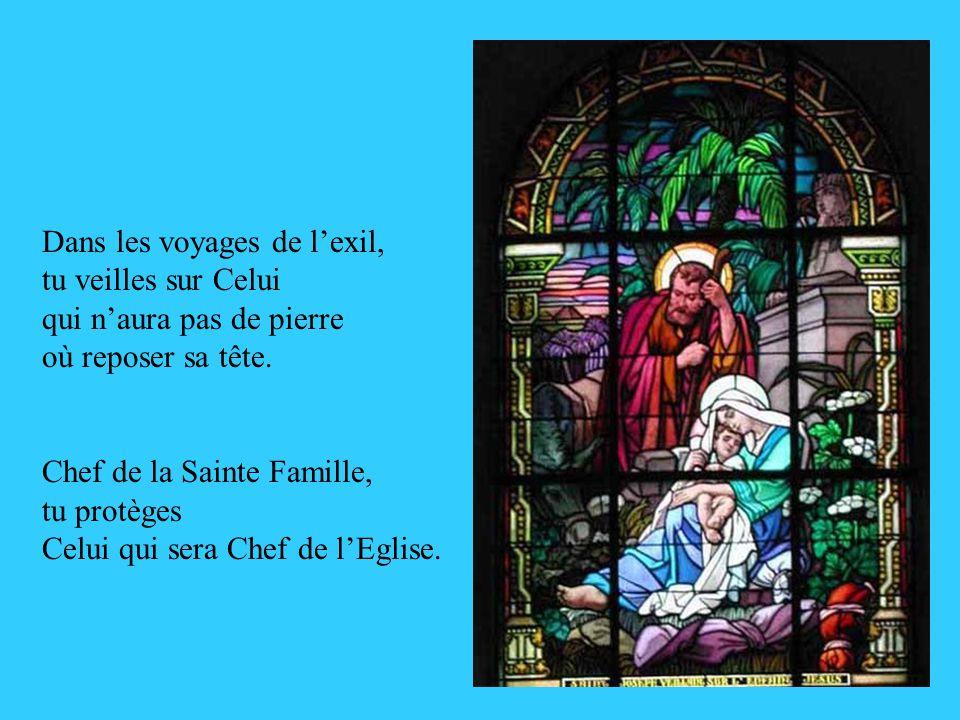 Avec Marie, tu présentes lEnfant qui Soffrira en sacrifice pour le salut des hommes de la Terre, et ton cœur dépoux aimant est blessé par le glaive pr