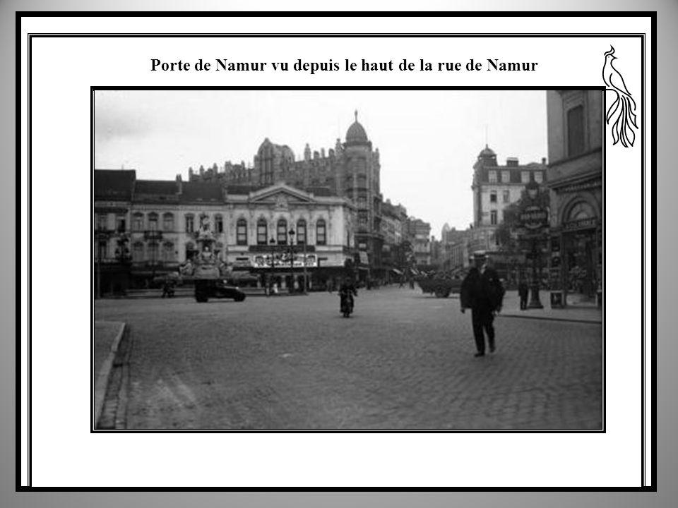 Porte de Namur vu depuis le haut de la rue de Namur
