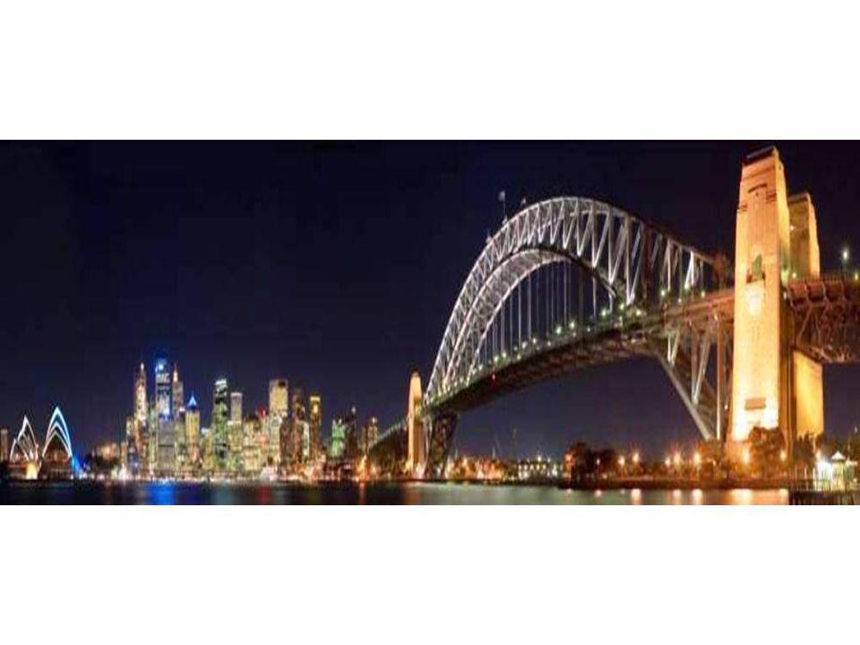 Le pont le plus haut du monde Pont du port de Sydney, Australie. 16 piliers.