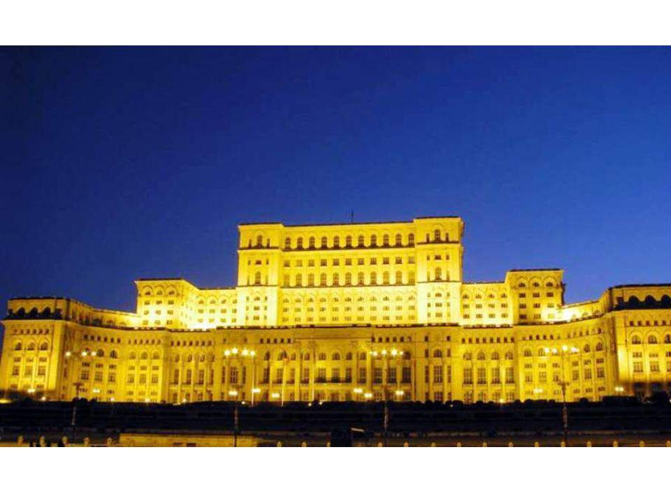 Le palace le plus grand Palacio del Parlamento, Bucarest, Rumanía.