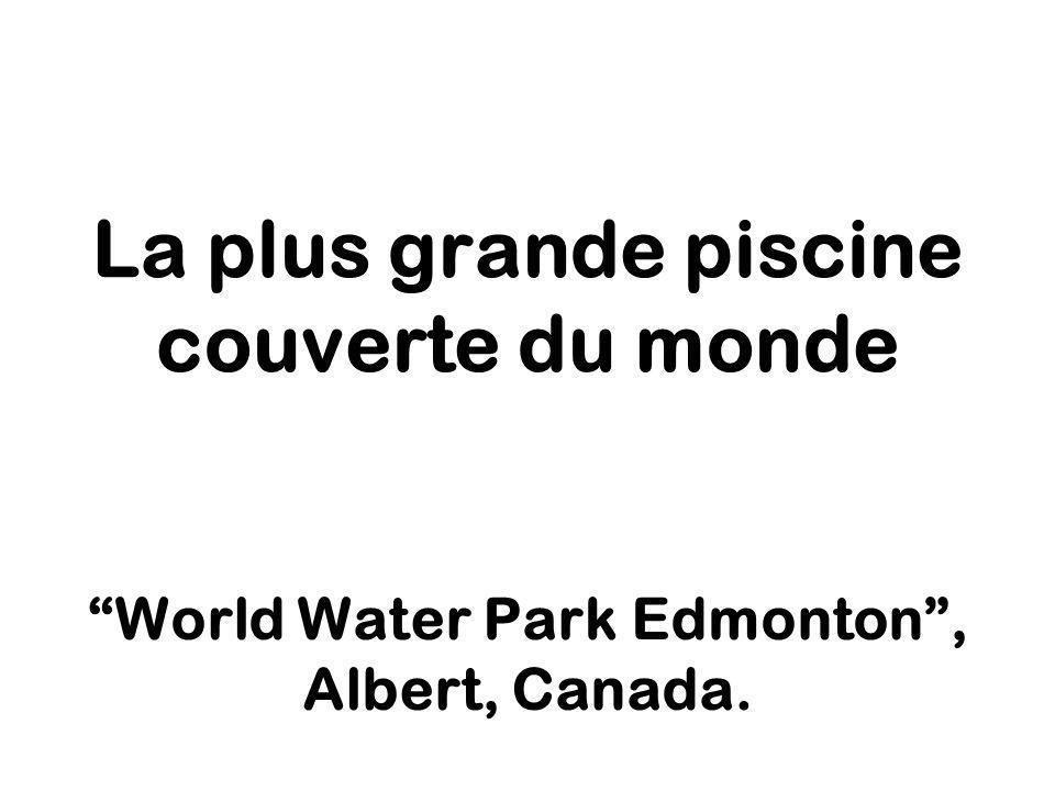 La plus grande piscine couverte du monde World Water Park Edmonton, Albert, Canada.