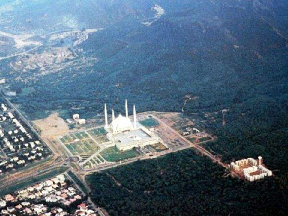 LA mosquée la plus grande Mosquée Sha Feisal, Islamabad, Pakistán.