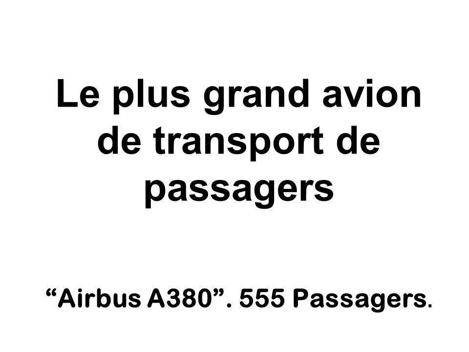Le plus grand avion de transport de passagers Airbus A380. 555 Passagers.