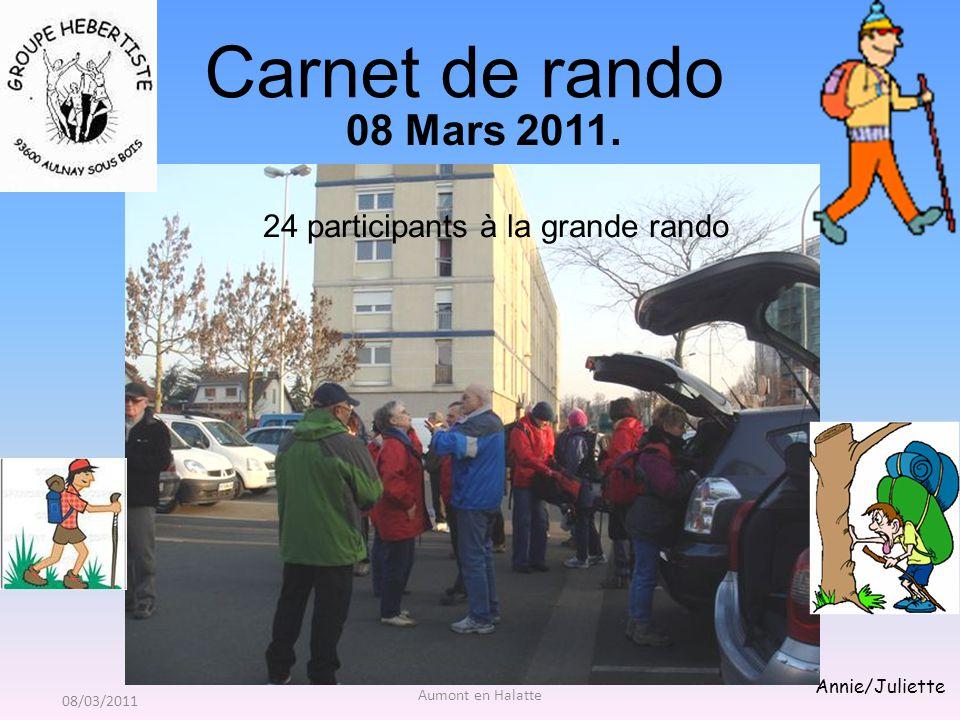 Aumont en Halatte Annie/Juliette Carnet de rando 08 Mars 2011.