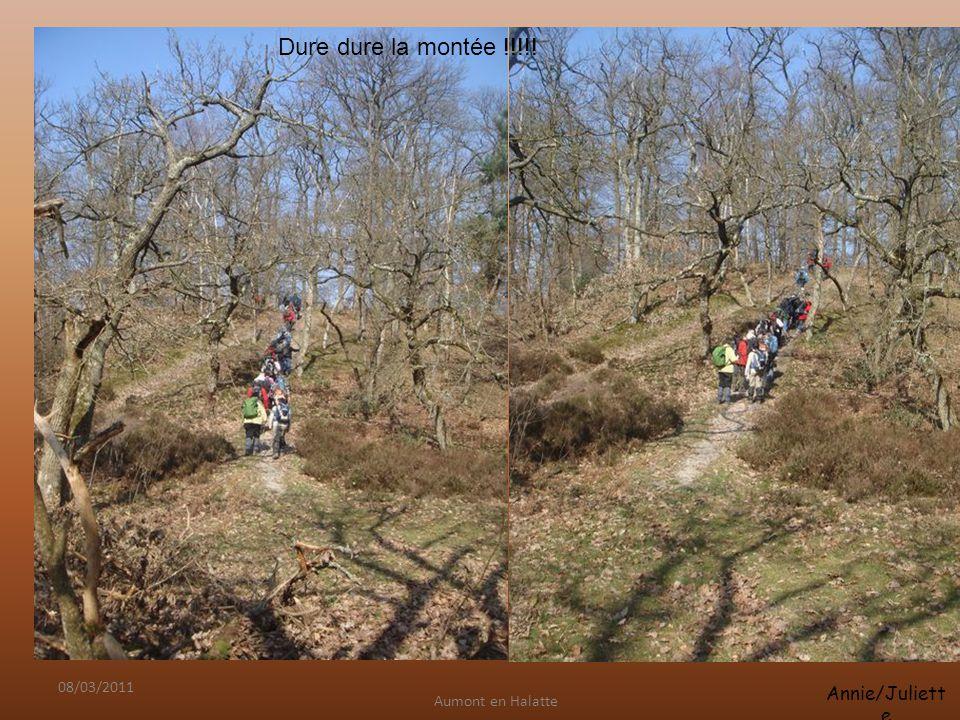 Aumont en Halatte Annie/Juliett e 08/03/2011 Dure dure la montée !!!!!