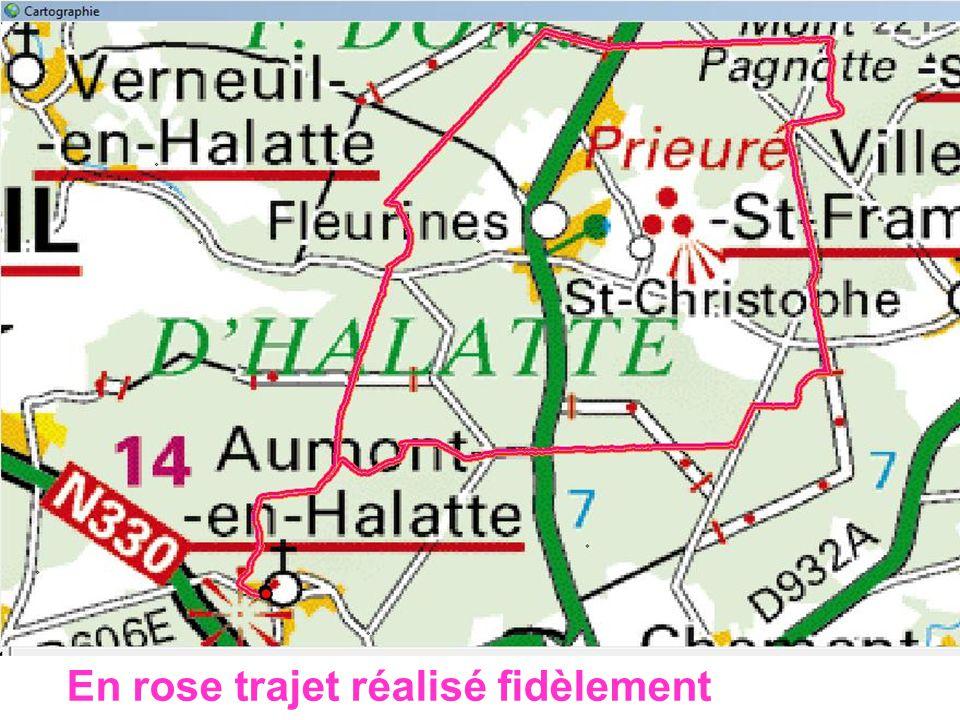 Aumont en Halatte Annie/Juliette 08/03/2011 En rose trajet réalisé fidèlement