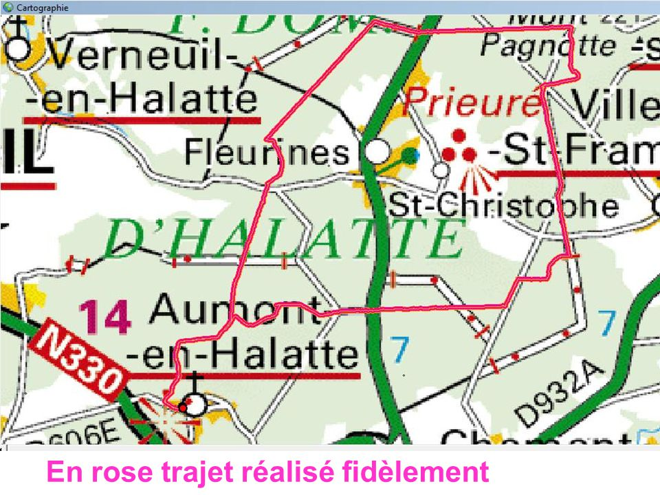 Aumont en Halatte Annie/Juliette 08/03/2011 En Orange Trajet prévu