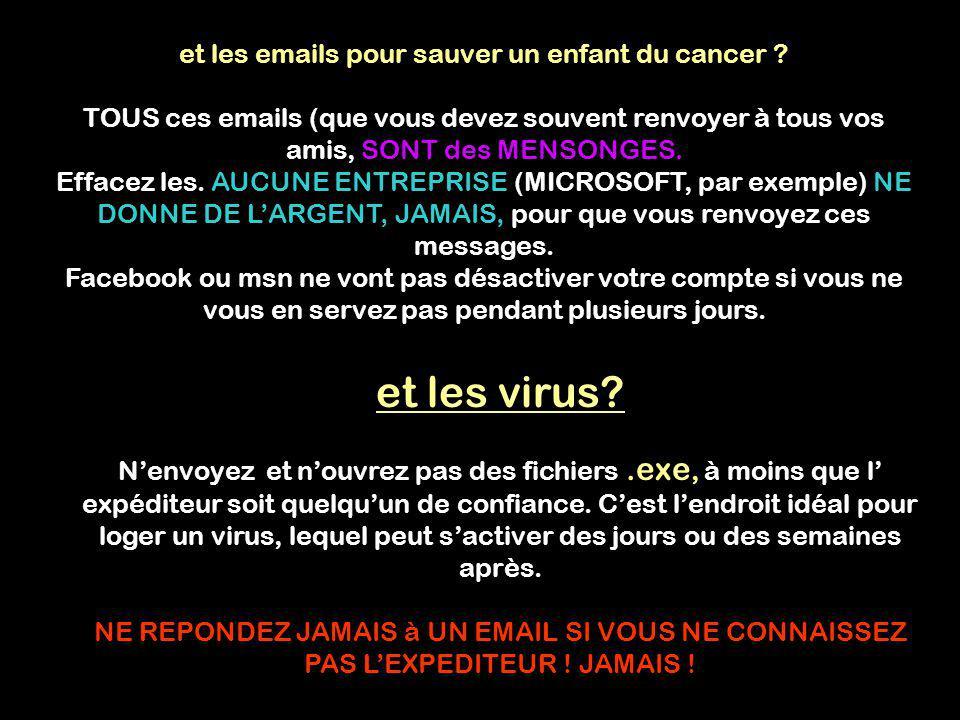 et les emails pour sauver un enfant du cancer .