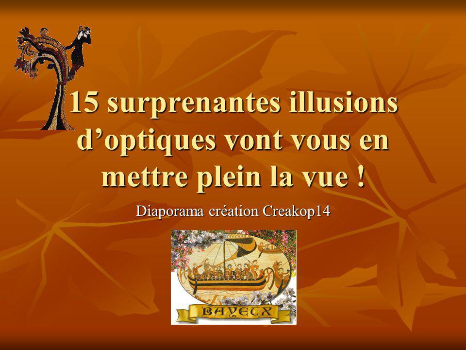 15 surprenantes illusions doptiques vont vous en mettre plein la vue ! Diaporama création Creakop14
